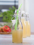 Apple juice in a bottle Royalty Free Stock Photo