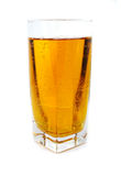 Apple juice with bubbles in glass Royalty Free Stock Image