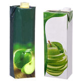 Apple juice cartons Royalty Free Stock Images