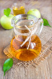 Apple juice (cider) in jug Royalty Free Stock Image