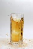 Apple juice. Close shot of apple juice with splash Royalty Free Stock Image