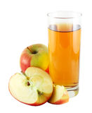 Apple juice with colorful apples Stock Image