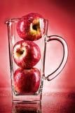 Apple juice conceptual. Apple juice unusual, in studio Stock Images