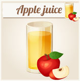 Apple juice. Detailed Vector Icon Royalty Free Stock Images