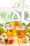 Apple juice and fresh apples Royalty Free Stock Photo