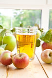 Apple juice and fresh apples Stock Photography