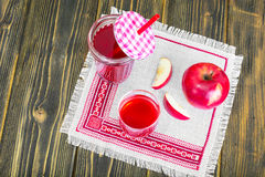 Apple juice from fresh ripe apples Stock Image