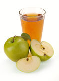 Apple juice and fruit Stock Photography