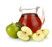 Apple juice and fruit Stock Image