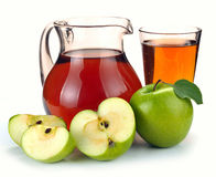 Apple juice and fruit Royalty Free Stock Image