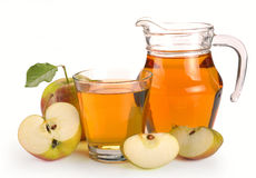 Apple juice and fruit Royalty Free Stock Photos
