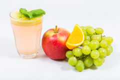 Apple juice with fruit juicers Stock Image