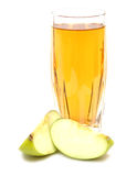 Apple juice in glass Royalty Free Stock Photo