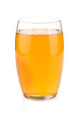 Apple juice in a glass Stock Images