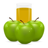 Apple and juice Stock Photo