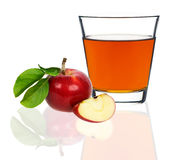 Apple juice in a glass Stock Photography
