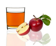 Apple juice in a glass Royalty Free Stock Image