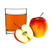 Apple juice in a glass Royalty Free Stock Photography