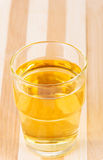 Apple juice in glass. Stock Image