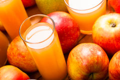 Apple juice glass Stock Images