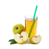Apple juice in glass isolated Royalty Free Stock Images