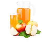 Apple juice in glass jar Stock Photo