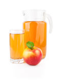 Apple juice in glass jar Royalty Free Stock Image