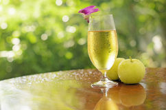 Apple juice and green apple Stock Image