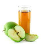 Apple juice with green apples Royalty Free Stock Photo