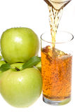 Apple juice with green apples Royalty Free Stock Image