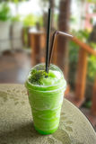 Apple juice green smoothie. Royalty Free Stock Images