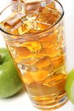 Apple juice with ice Stock Image