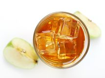 Apple juice with ice Royalty Free Stock Image