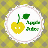 Apple juice, illustrated label Stock Image