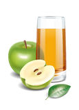 Apple juice illustration Stock Photos