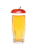 Apple juice and lobule red apple Royalty Free Stock Photography
