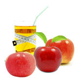 Apple juice and meter Stock Photo