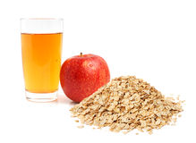 Apple juice and oat flakes Royalty Free Stock Photography