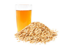 Apple juice and oat flakes Stock Image