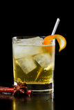 Apple juice on the rocks Stock Images