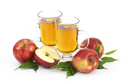 Apple juice and some fresh fruits Stock Image