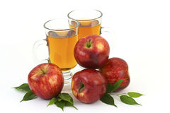 Apple juice and some fresh fruits Royalty Free Stock Photos