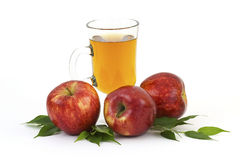 Apple juice and some fresh fruits Stock Photography