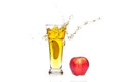 Apple juice splash Stock Photography