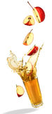 Apple juice splash Royalty Free Stock Image