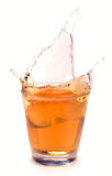 Apple juice splash Stock Images