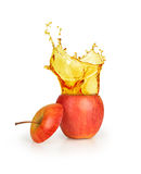 Apple juice splashing Stock Image