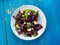 Apple, Kale i Kapuściana sałatka, Zdjęcia Royalty Free