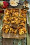 Apple kanelbrun kaka Fotografering för Bildbyråer