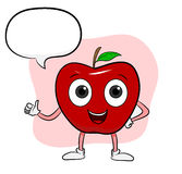Apple-Karikatur Stockbild